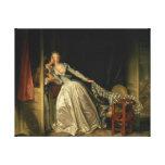 El beso robado de Jean-Honore Fragonard Lona Estirada Galerías