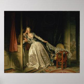 El beso robado de Jean-Honore Fragonard Poster