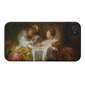 El beso robado - Jean Honoré Fragonard iPhone 4 Fundas