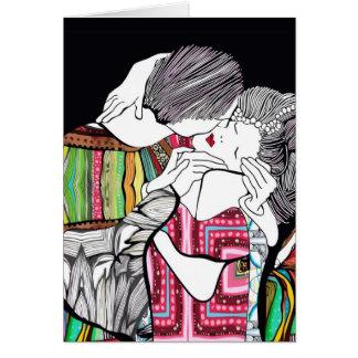 El beso tarjeta de felicitación