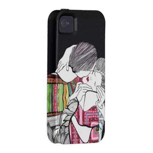 El beso vibe iPhone 4 fundas