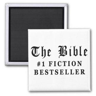 El bestseller de la ficción de la biblia imán cuadrado