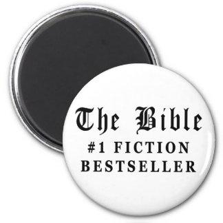 El bestseller de la ficción de la biblia imán redondo 5 cm