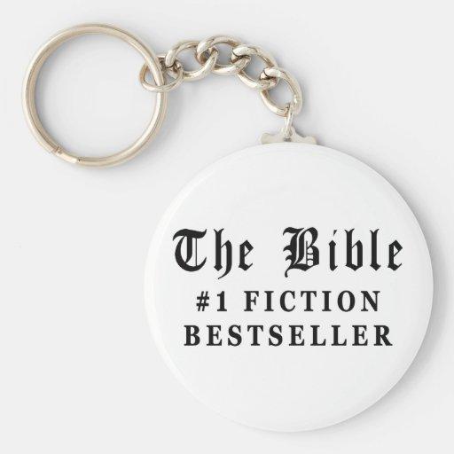 El bestseller de la ficción de la biblia llavero