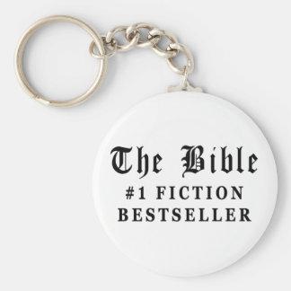 El bestseller de la ficción de la biblia llavero redondo tipo pin