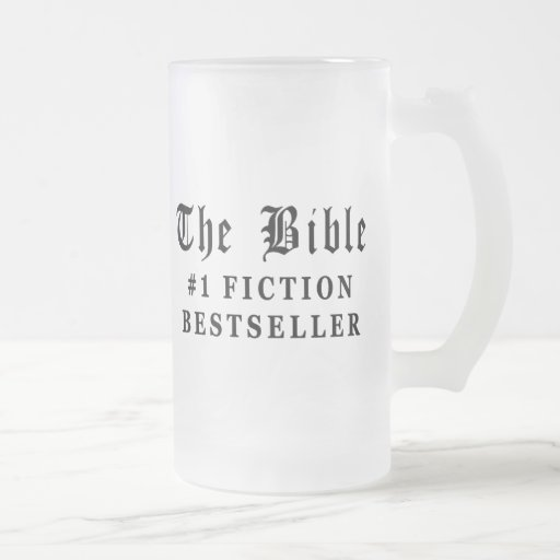 El bestseller de la ficción de la biblia taza cristal mate
