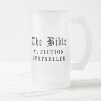 El bestseller de la ficción de la biblia taza de cristal