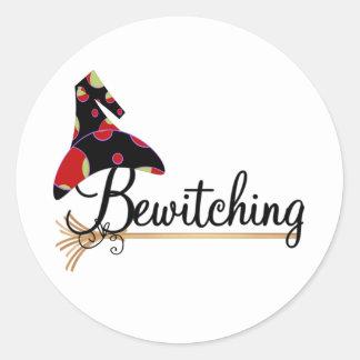 El Bewitching Pegatina Redonda