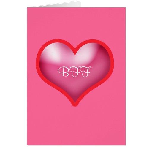 El BFF de la tarjeta del día de San Valentín feliz