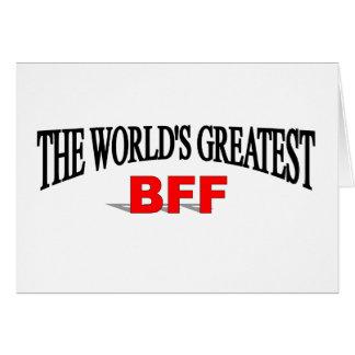 El BFF más grande del mundo Tarjeta De Felicitación