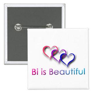 El BI es botón hermoso Pin Cuadrado