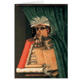 El bibliotecario - 1566 tarjeta de felicitación