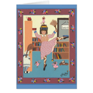El bibliotecario del baile tarjeta de felicitación