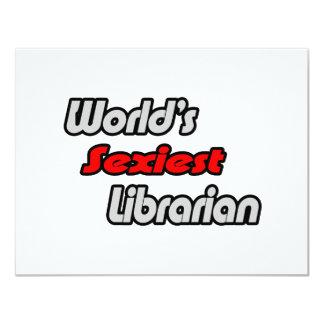 """El bibliotecario más atractivo del mundo invitación 4.25"""" x 5.5"""""""