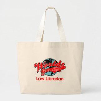 El bibliotecario más grande de la ley del mundo bolsa tela grande