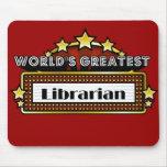 El bibliotecario más grande del mundo alfombrillas de ratones