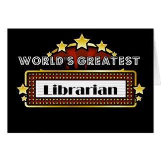 El bibliotecario más grande del mundo felicitaciones