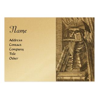 El BIBLIOTECARIO, papel metálico del oro Plantillas De Tarjetas Personales