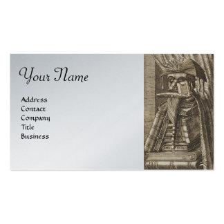 El BIBLIOTECARIO, papel metálico del platino de pl Tarjetas De Negocios
