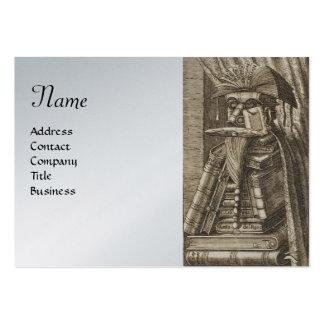 El BIBLIOTECARIO, papel metálico del platino de pl Plantilla De Tarjeta De Negocio