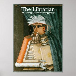 El bibliotecario por Arcimboldo Póster