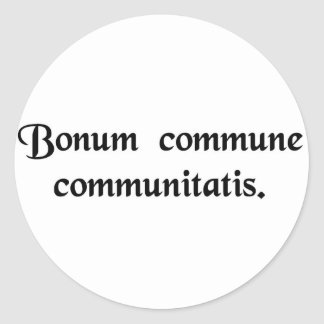 El bien común de la comunidad pegatina redonda