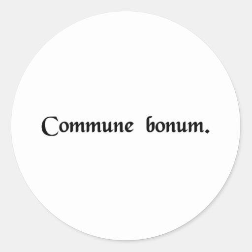 El bien común etiqueta redonda