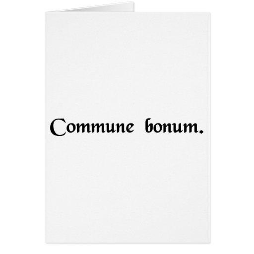 El bien común felicitación