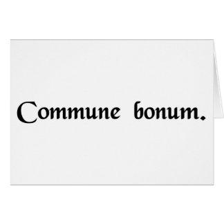 El bien común tarjeta de felicitación