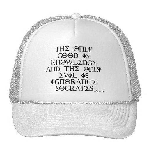 El bien y el mal con Sócrates Gorras De Camionero
