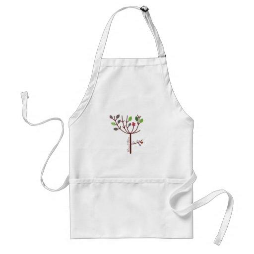 El bígaro florece comida cruda delantal