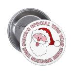 El bigote de Santa monta el botón Pins