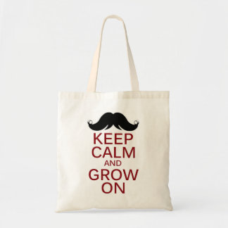 El bigote divertido guarda calma y crece encendido bolsa de mano