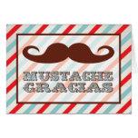 El bigote Gracias le agradece las notas Tarjeta Pequeña