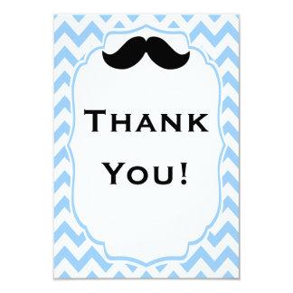"""El bigote le agradece las tarjetas de nota invitación 3.5"""" x 5"""""""