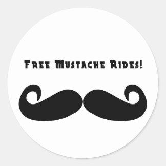 El bigote libre monta al pegatina