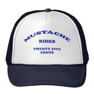 El bigote monta veinticinco centavos gorras de camionero