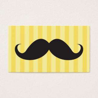 El bigote negro de la diversión en amarillo raya tarjeta de negocios