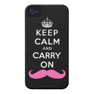 El bigote rosado guarda calma y continúa el caso d Case-Mate iPhone 4 coberturas