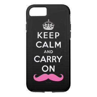 El bigote rosado guarda calma y continúa funda iPhone 7