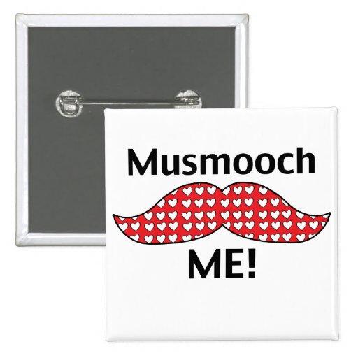 El bigote Smooch me Pin