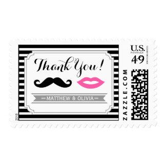El bigote y los labios le agradecen sello postal