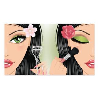 El bigudí de la pestaña del artista de maquillaje tarjetas de visita