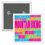El Biking colorido de la montaña Pins