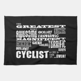 El Biking de ciclo y ciclistas: El mundo más grand Toallas De Cocina