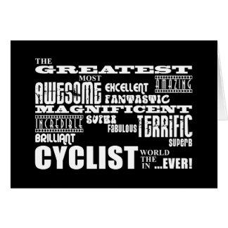 El Biking de ciclo y ciclistas: El mundo más grand Tarjeta Pequeña