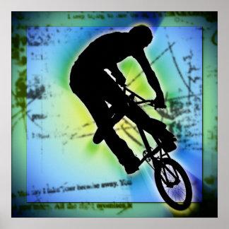 El Biking de la montaña de BMX Impresiones