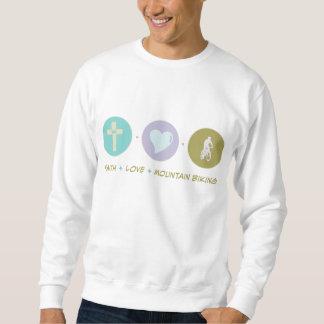 El Biking de la montaña del amor de la fe Suéter