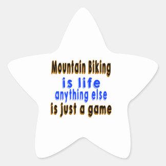 El Biking de la montaña es vida que todo lo demás Pegatina En Forma De Estrella