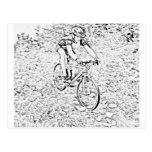 El biking de la montaña postal